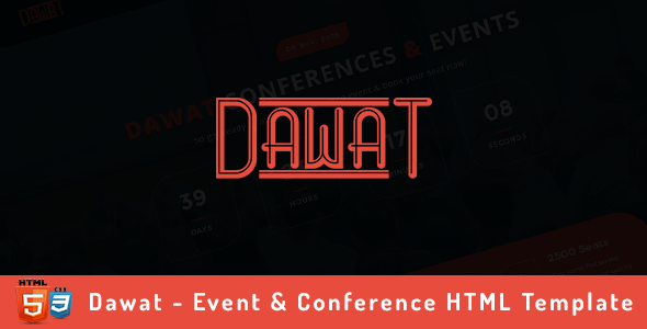 Dawat - Event & Conference HTML Template            TFx