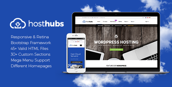 HostHubs | Responsive Web Hosting, Domain, Technology Site Template            TFx