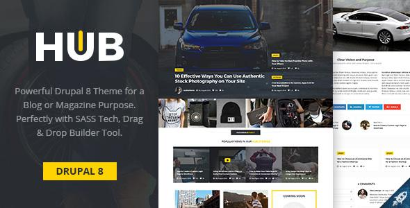 Hub - Creative Blog & Magazine Drupal 8 Theme            TFx