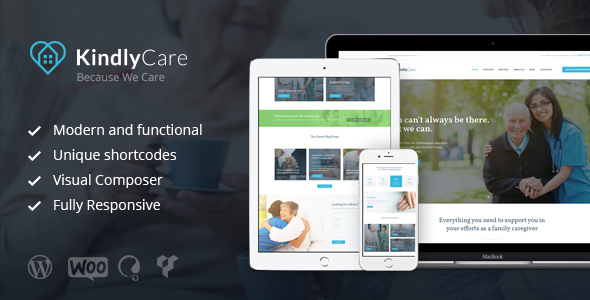 KindlyCare - Senior Care & Medical WordPress Theme            TFx