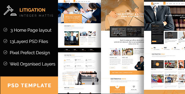 Litigation - Law Firm PSD Template            TFx