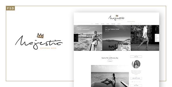 Majestic - Premium Personal Blog PSD Template            TFx
