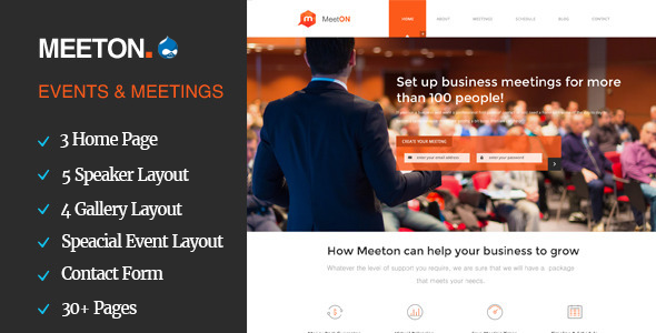 Meeton - Conference & Event Drupal Theme            TFx