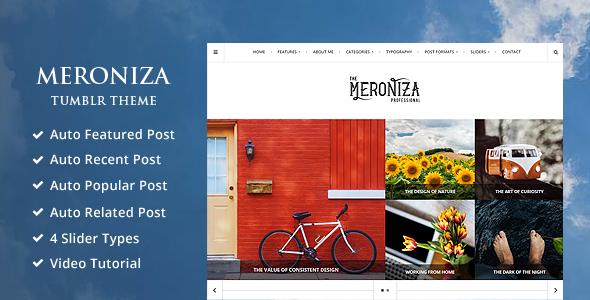 Meroniza - A Responsive & Elegant Tumblr Theme            TFx