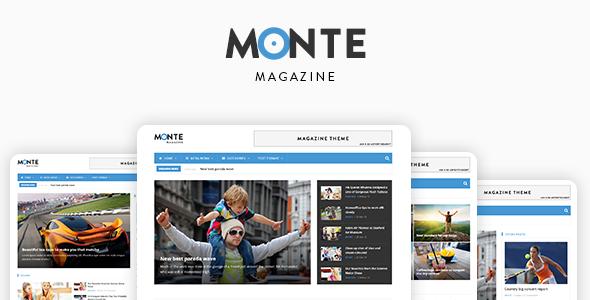 Monte - Responsive Magazine News Drupal 8 Theme            TFx