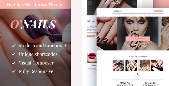 O'Nails - Nail Bar & Beauty Salon WordPress Theme            TFx
