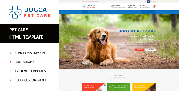 Pet Care - Veterinary HTML Template            TFx
