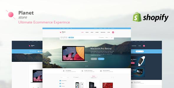 Planet Tech Store - Ecommerce Shopify Theme            TFx