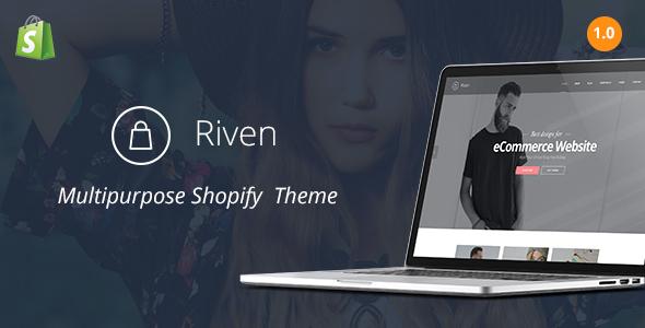 Riven - Responsive Fashion Shopify Theme            TFx
