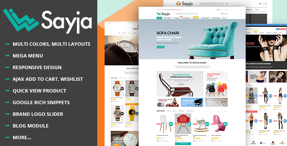 Sayja - Multipurpose Responsive Prestashop Theme            TFx