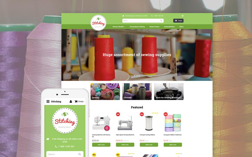 Sewing Store OpenCart Template TMT