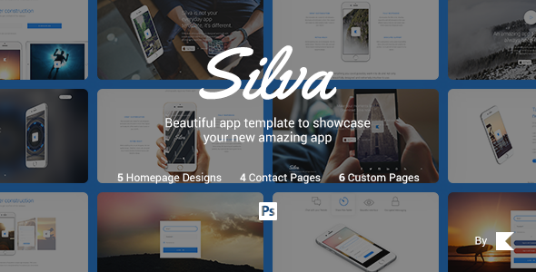 Silva — Beautiful App PSD Template            TFx