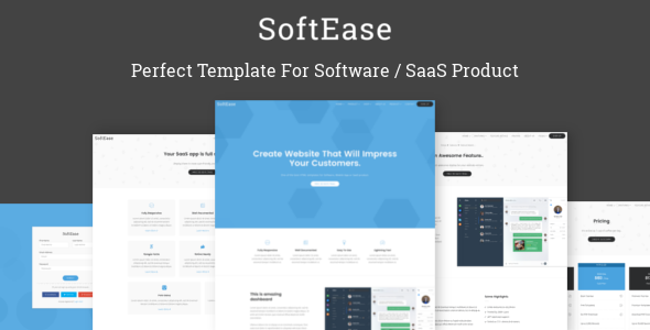 SoftEase - Multipurpose Software / SaaS Product Template            TFx