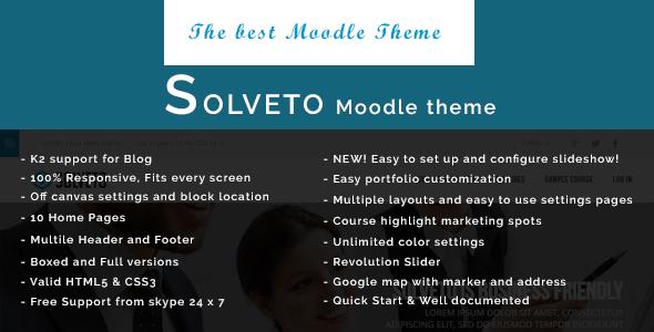 Solveto - Responsive Moodle Theme            TFx