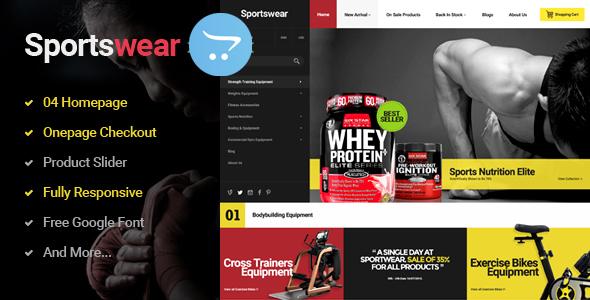 Sportwear - Multi Purpose Responsive OpenCart   Theme            TFx