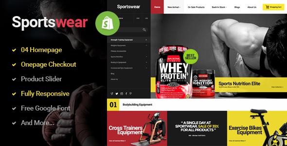 Sportwear - Multi Store Responsive Shopify Theme            TFx
