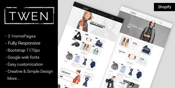 Twen - Responsive Fashion Shopify Theme            TFx