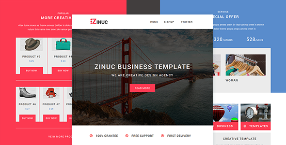 Zinuc - E-Commerce  Responsive Email with Stampready builder            TFx