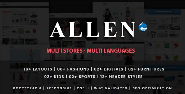 Allen - Multipurpose Responsive Drupal Theme            TFx