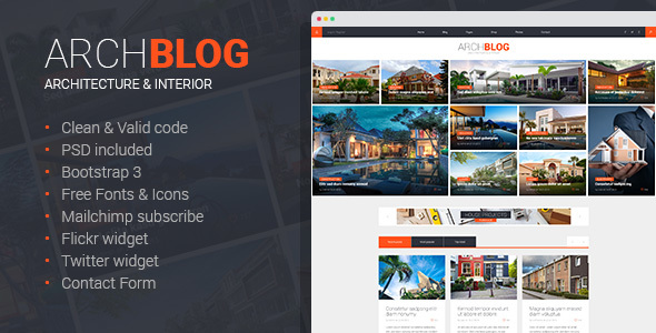 Arch Blog - Architecture and Real Estate Blog HTML template            TFx
