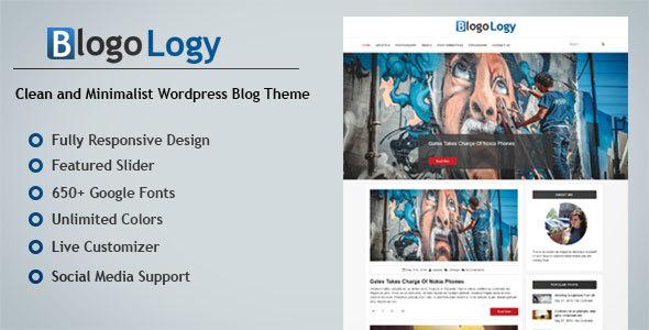 Blogology - Responsive Wordpress Blog Theme            TFx
