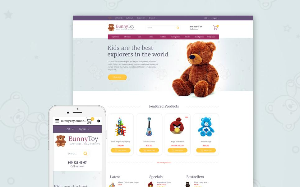 Bunny Toy OpenCart Template TMT