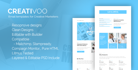Creativoo - Creative Business Email Template            TFx