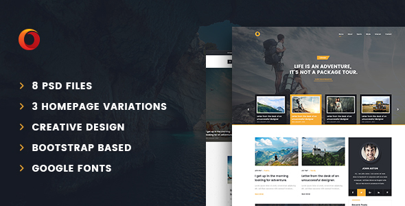 Dot – Personal Blog PSD Template            TFx