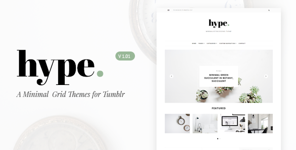 Hype | Minimal Grid Tumblr Themes            TFx