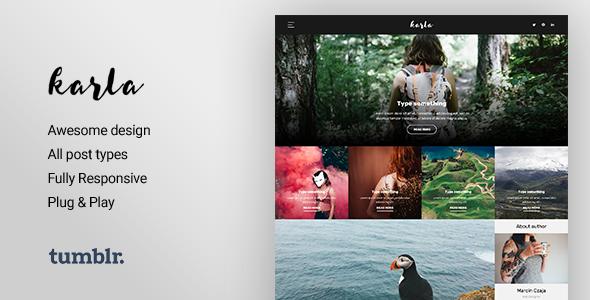 Karla - Stunning Personal Blog Theme            TFx
