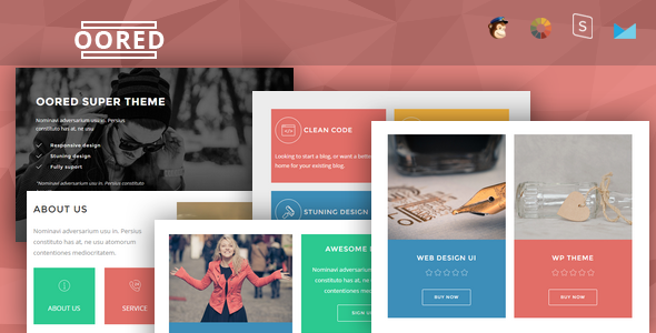 Oored - Multipurpose Responsive Email + StampReady Builder            TFx