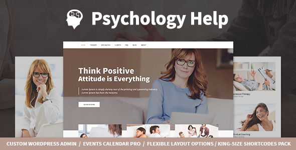 Psychology Help - Medical WordPress Theme for Psychologist and Mental Therapy            TFx