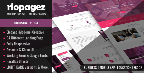 Rio Pagez Multipurpose Landing Pages            TFx
