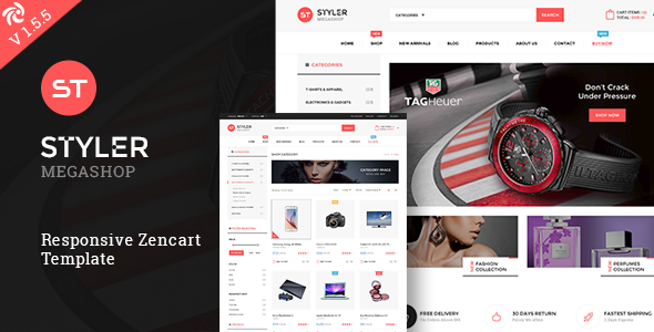 Styler Mega Shop – Responsive Zencart Theme            TFx