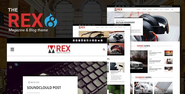 The REX - Drupal 8 Magazine and Blog Theme            TFx