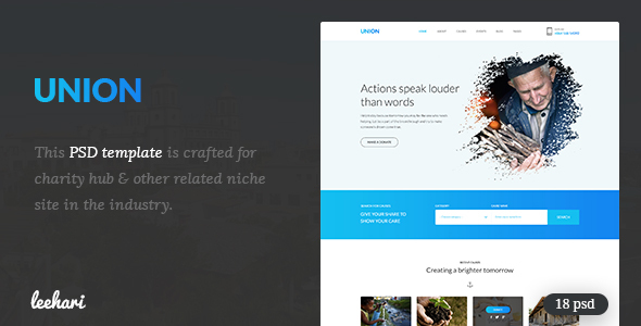 Union - Charity PSD Template            TFx