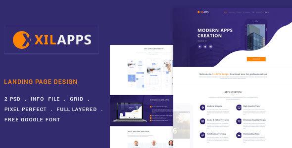 XILLAPPS - PSD App Landing Template            TFx