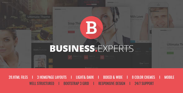 Business Experts - Responsive Corporate HTML5 Template            TFx
