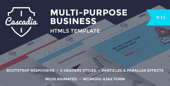 Cascadia - Multipurpose Business Agency/Personal Portfolio HTML Template            TFx