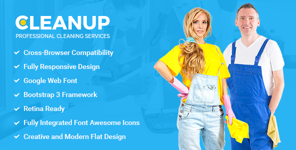 CleanUp - Professional Cleaning Services HTML Template            TFx