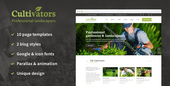 Cultivators - HTML Gardening Design            TFx