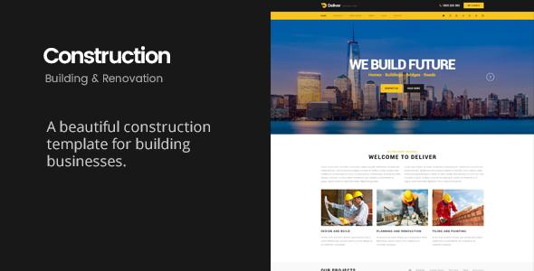 Deliver Construction | Building & Renovation HTML Template            TFx