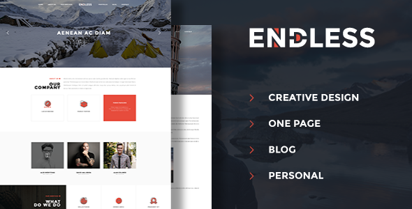 Endless - One Page Personal Blog PSD            TFx