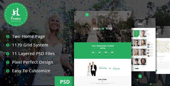 Evanica - General Wedding PSD Theme            TFx