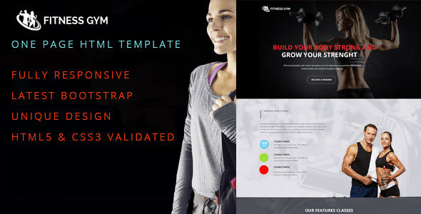 Fitness Gym One Page Responsive HTML5 Template            TFx
