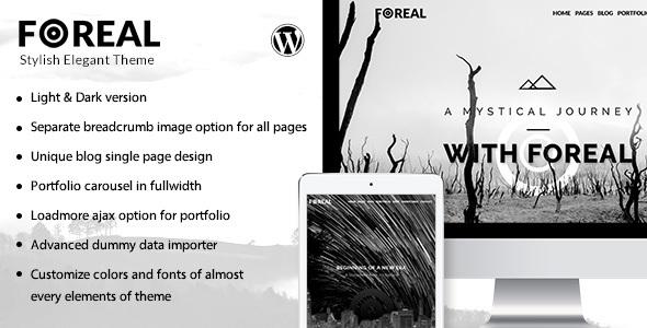 Foreal - Clean, Elegant Black and White Theme            TFx