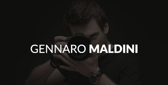 Gennaro Maldini Psd Template            TFx