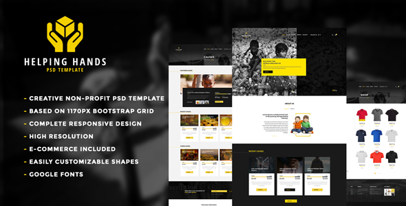 Helping Hands - Multipurpose Non-profit PSD Template            TFx