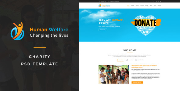 Human Welfare : Charity PSD Template            TFx
