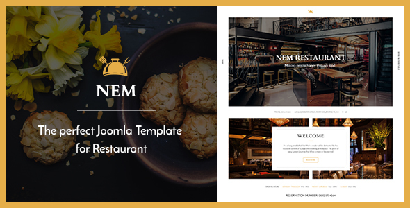 Joomla Restaurant Template - NEM            TFx
